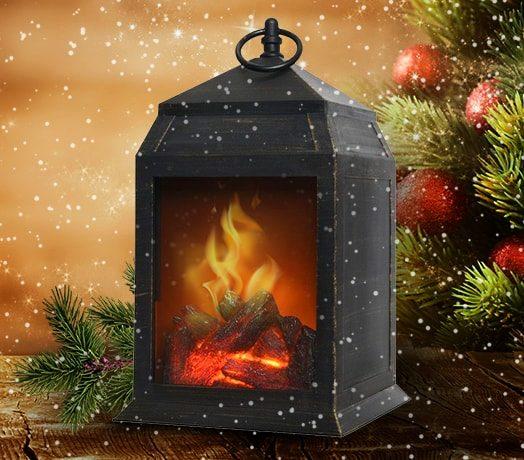 Беспроводной светодиодный фонарь с эффектом пламени «Уют Камина»